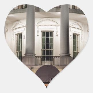 White House 2 Heart Sticker