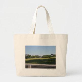 White House across the Washington Monument Lawn.JP Canvas Bag