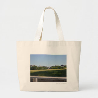 White House across the Washington Monument Lawn.JP Large Tote Bag