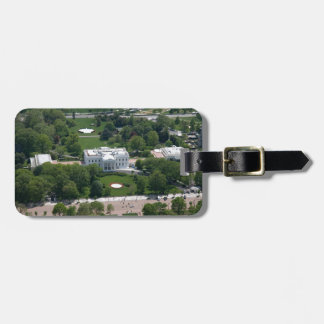 White House Aerial Photograph Tag For Luggage