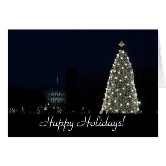 White House and National Tree Card