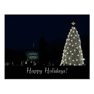 White House and National Tree Postcard