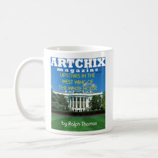 WHITE HOUSE ARTICLE BY RALPH THOMAS FOR ARTCHIX COFFEE MUG