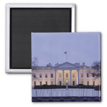 White House at Dusk Photo Magnetic Magnet