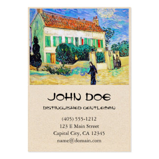 White House at Night by Van Gogh Business Card Template