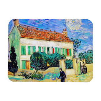 White House at Night by Van Gogh Magnet