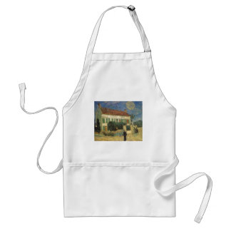 White House at Night by Vincent van Gogh Adult Apron