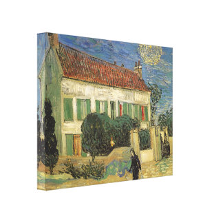 White House at Night by Vincent van Gogh Canvas Print