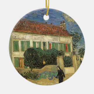 White House at Night by Vincent van Gogh Ceramic Ornament
