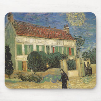 White House at Night by Vincent van Gogh Mouse Pad