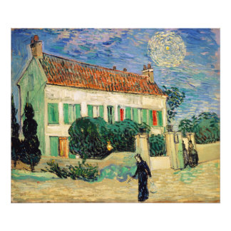 White House at Night by Vincent Van Gogh Art Photo