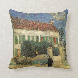 White House at Night by Vincent van Gogh Throw Pillow