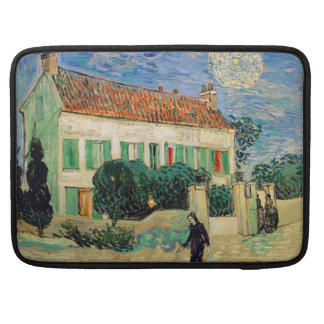 White House at Night by Vincent Van Gogh Sleeve For MacBooks