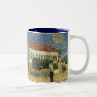 White House at Night by Vincent van Gogh Two-Tone Coffee Mug