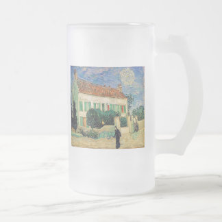 White House at Night Frosted Glass Beer Mug