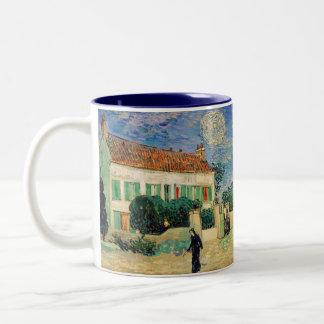 White House at Night - Van Gogh (1890) Two-Tone Coffee Mug