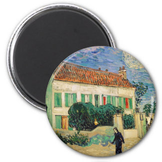 White house at night - Vincent van Gogh Magnet
