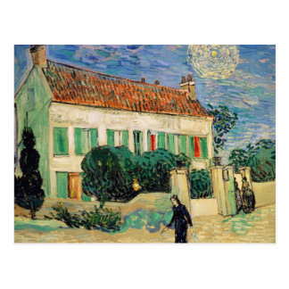 White house at night - Vincent van Gogh Postcard