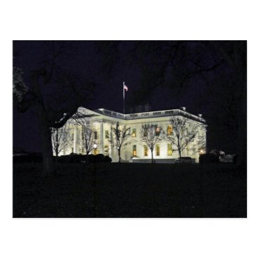 USA Themed White House at Night Washington DC 003 Postcard