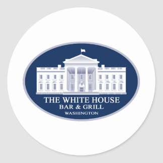 White House Bar & Grille Classic Round Sticker