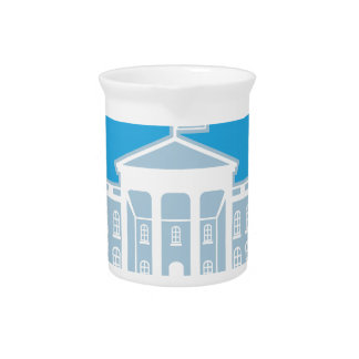 White House blue sky Beverage Pitcher