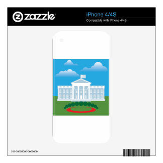 White House blue sky Decal For The iPhone 4S
