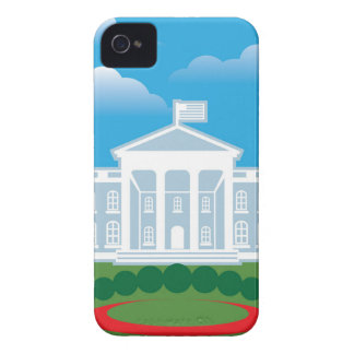 White House blue sky iPhone 4 Cover