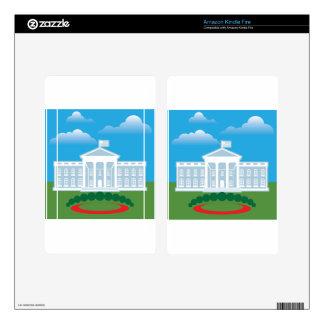 White House blue sky Kindle Fire Decal