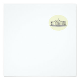 White House Building Oval Drawing Card