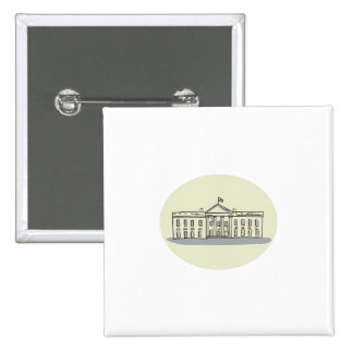 White House Building Oval Drawing Pinback Button