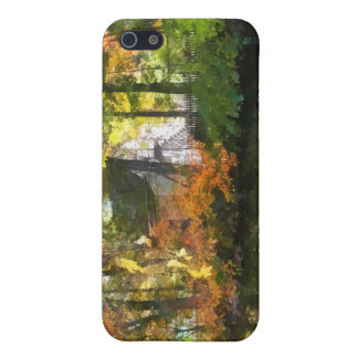 White House by Lake in Autumn iPhone 5 Cases