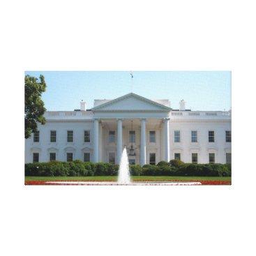 USA Themed White House Canvas Print