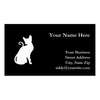 White House Cat Double-Sided Standard Business Cards (Pack Of 100)