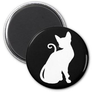 White House Cat Magnet