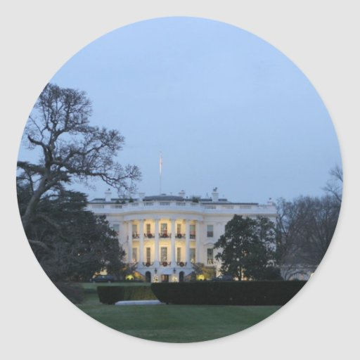 White House Celebrate Christmas Stickers