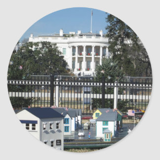white house christmas decorations classic round sticker