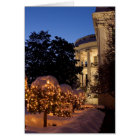 White House Christmas Lawn Decorations Card