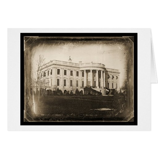 White House DC Daguerreotype 1846 Greeting Card