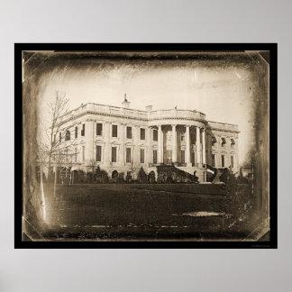 White House DC Daguerreotype 1846 Poster