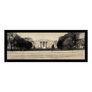 White House DC Photo 1909 Poster