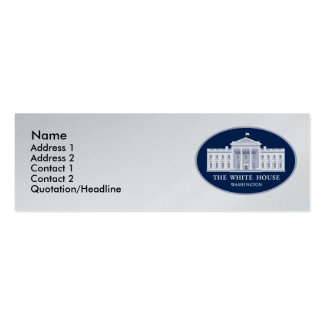 White House Double-Sided Mini Business Cards (Pack Of 20)