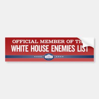White House Enemies List Member Stickers