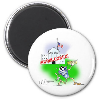 White House Foreclosed 2 Inch Round Magnet