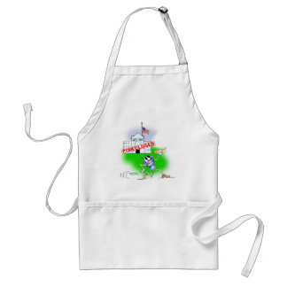 White House Foreclosed Adult Apron