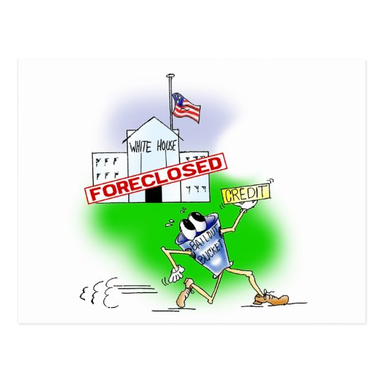 White House Foreclosed Postcard