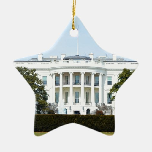 White House From The Lawn Christmas Tree Ornament