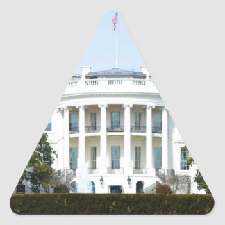 White House From The Lawn Triangle Stickers