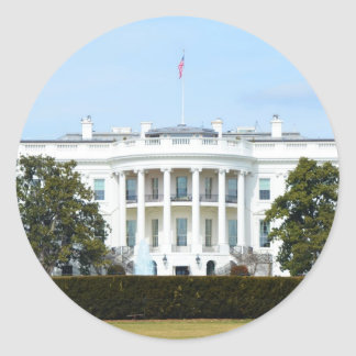 White House From The Lawn Round Sticker