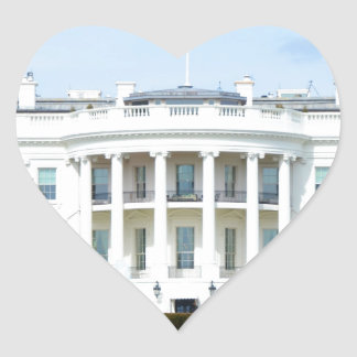 White House From The Lawn Heart Sticker
