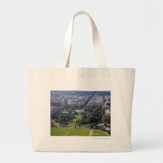White House from Washington Monument.jpg Large Tote Bag